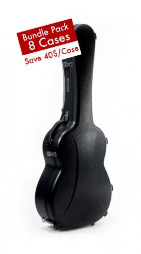 Classic Guitar Case Active Series Black, Bundle 8 cases
